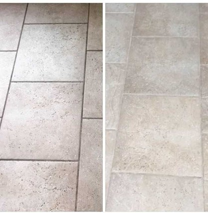 before and after tile and grout cleaning results in Indiana